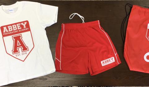 Abbey Gym Pack (Gym Shirt, Shorts, Carry Bag)